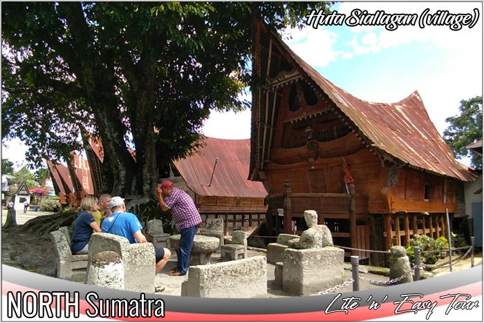 Ancient trial court yard of King Siallagan Stone Chair Ambarita village Samosir Island