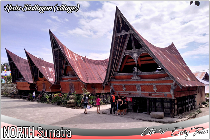 Batak Bolon House Huta Siallagan village King Siallagan ancient court yard Samosir Island
