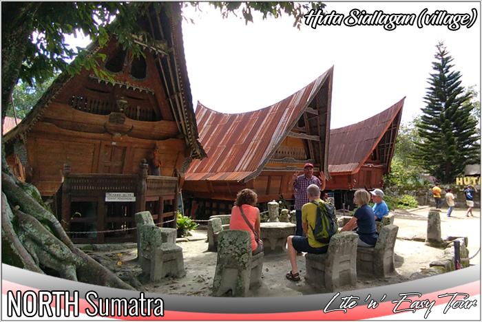 King Siallagan Stone Chair Court yard Ambarita village Samosir Island