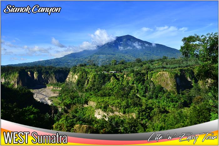 Ngarai Sianok Valley Bukit Tinggi West Sumatra and Singgalang Mountain