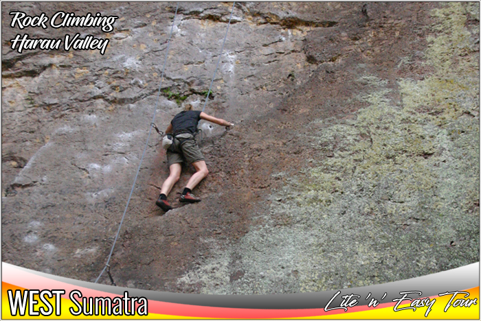 Rock Climbing Adventure Harau Valley Payakumbuh West Sumatra Tourist Attractions