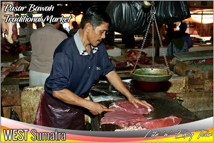 Traditional Market Pasar Bawah Bukit Tinggi West Sumatra